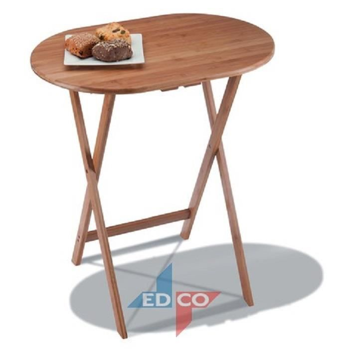 Table pliante en bambou achat vente table for Table pliante avec rangement