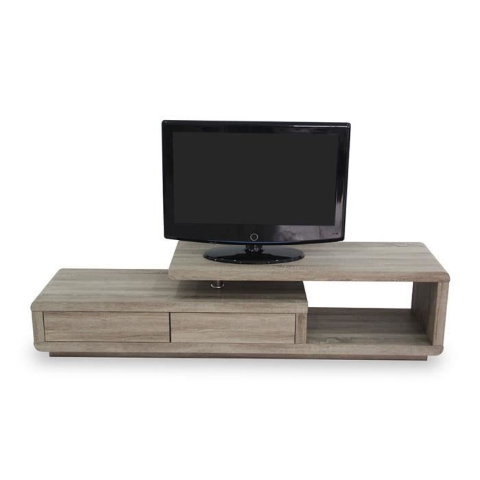 meuble tv couleur ch ne contemporain scala 2 ch ne fonc achat vente meuble tv meuble tv. Black Bedroom Furniture Sets. Home Design Ideas
