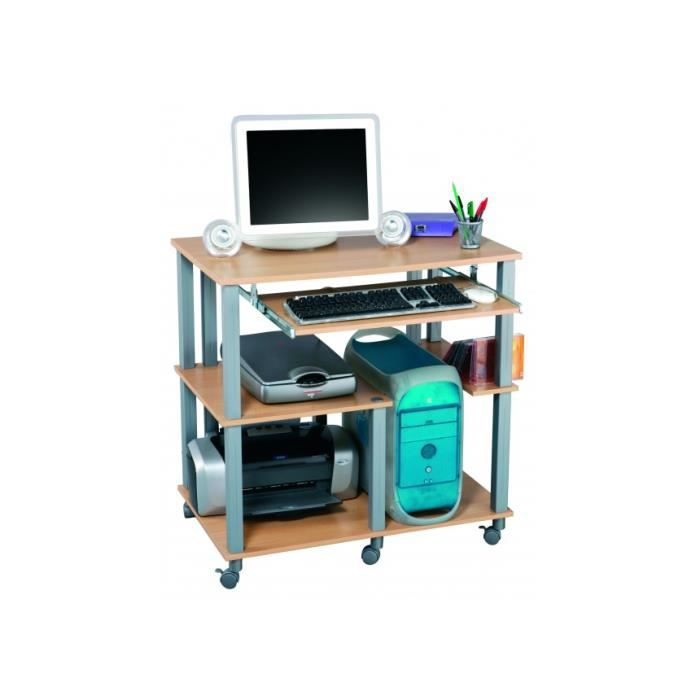 Bureau multim dia poly coloris h tre achat vente for Bureau hetre