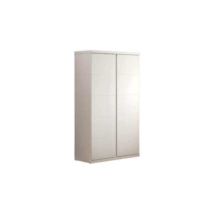 armoire enfant laqu blanc 2 portes lara achat vente. Black Bedroom Furniture Sets. Home Design Ideas