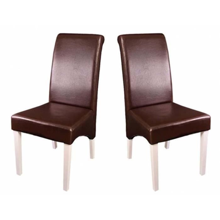 lot de 2 chaises de salle manger en cuir m37 achat. Black Bedroom Furniture Sets. Home Design Ideas