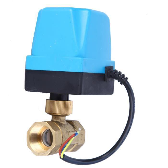 vanne /électrique en laiton Vanne /à bille motoris/ée AC 220V G3//4DN20 2 voies 3-fils actionneur /à bille pour climatiseur