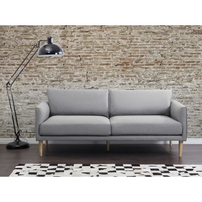 canap 2 3 places canap en tissu gris clair uppsala achat vente canap sofa divan. Black Bedroom Furniture Sets. Home Design Ideas
