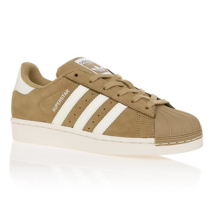a35aace3fab ADIDAS ORIGINALS Baskets Superstar Premium - Femme - Beige et marron ...