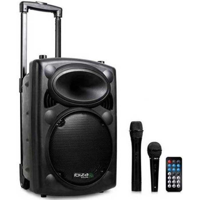 ibiza sound port10vhf bt syst me de sonorisation portable autonome 25 cm avec usb mp3 bt rec. Black Bedroom Furniture Sets. Home Design Ideas