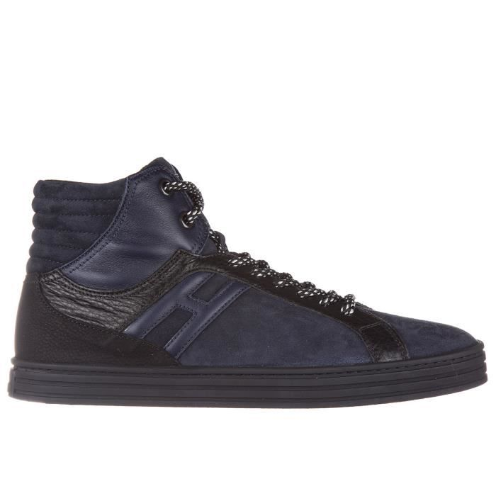 Chaussures baskets sneakers hautes homme en daim r141 Hogan Rebel AelnmjcTFh