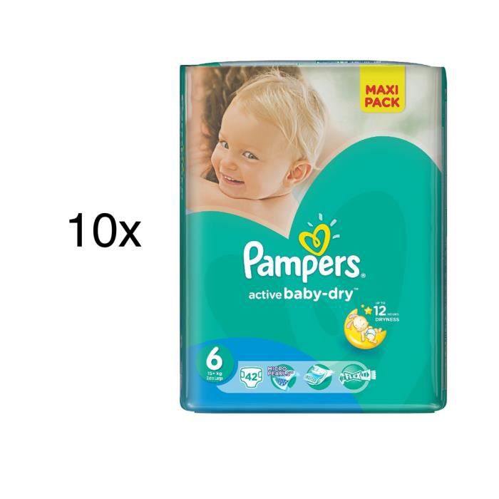 420 couches pampers active baby dry taille 6 achat vente couche jetable 420 couches pampers - Couche pampers baby dry taille 3 ...