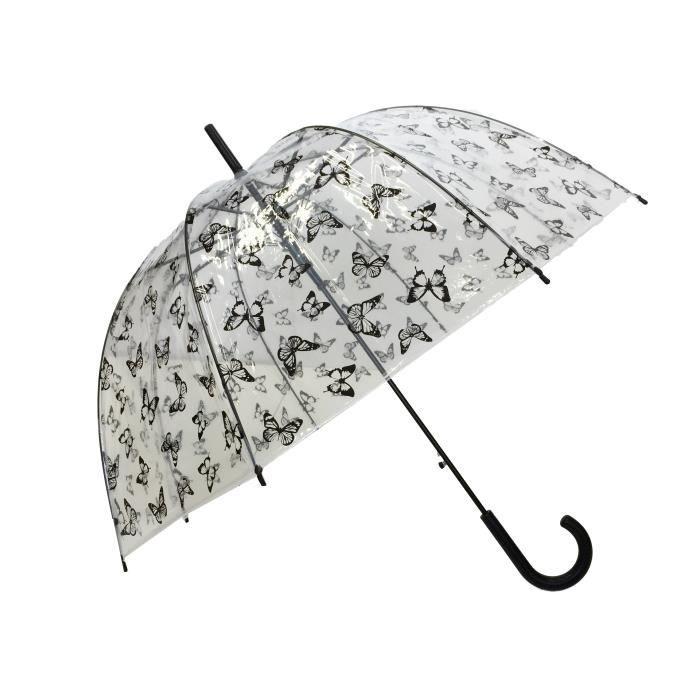 Parapluie /à Ouverture Invers/ée Canne Le Monde du Parapluie 85 cm Transparent
