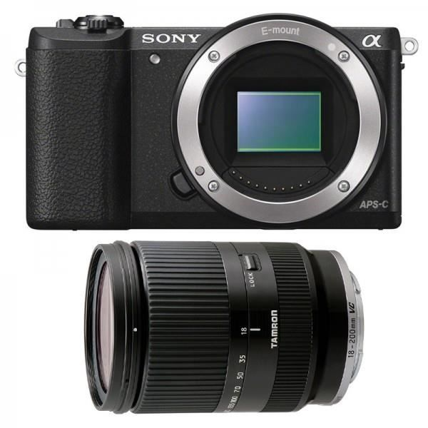 sony alpha 5100 noir tamron 18 200 vc noir achat. Black Bedroom Furniture Sets. Home Design Ideas