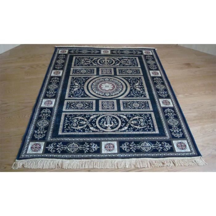 tapis oriental bleu 350 blu cm 120x160 achat vente tapis cdiscount. Black Bedroom Furniture Sets. Home Design Ideas