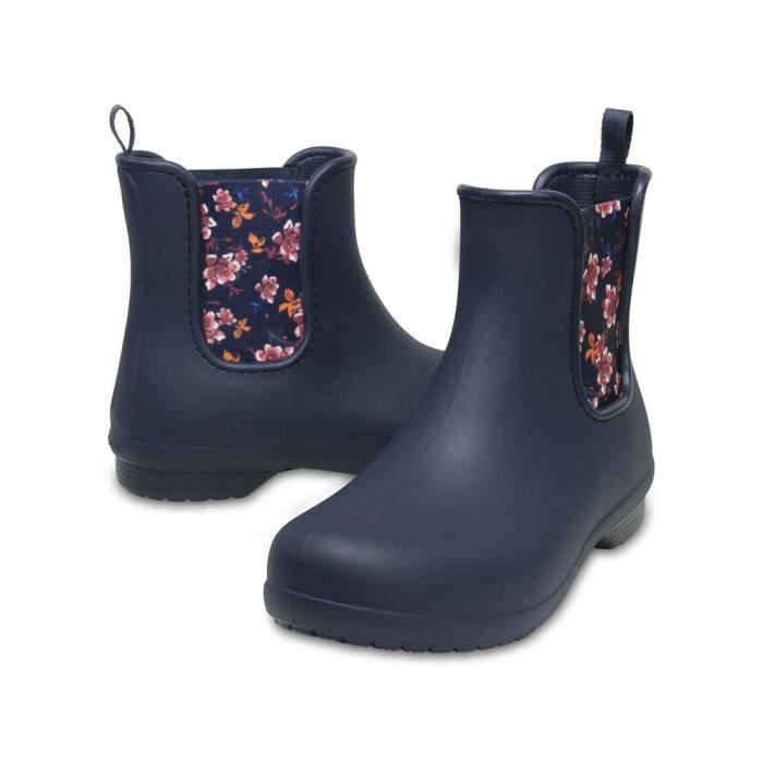 Crocs Chelsea Women's Boot, Navy Floral