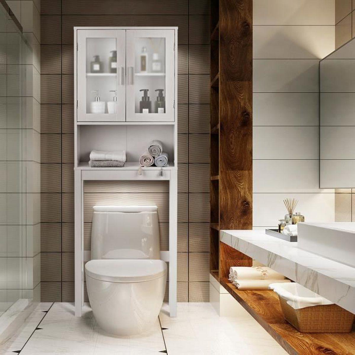 Meuble Salle De Bain Pour Machine A Laver costway meuble dessus toilette wc ou machine à laver en