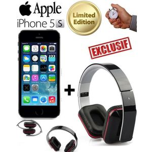 SMARTPHONE APPLE iPhone 5S Noir 16Go + Casque