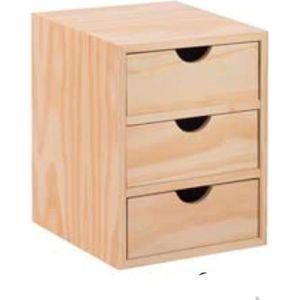 MEUBLE CLASSEMENT bloc Plaqués de tiroir en pin massif unité 3x1 mon