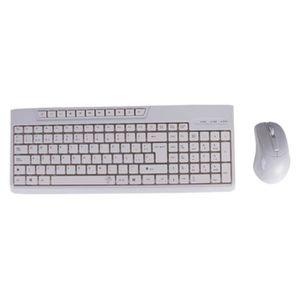 PACK CLAVIER - SOURIS Kit clavier + souris blanc noir lion bureau multim