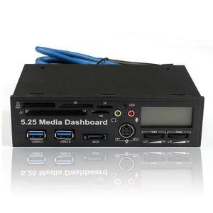 LECTEUR DE CARTE EXT. 5.25 USB 3.0 haute vitesse Tableau de bord des méd