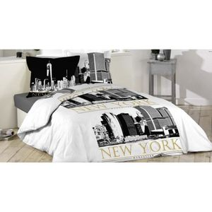 housse de couette new york achat vente housse de couette new york pas cher soldes d s le. Black Bedroom Furniture Sets. Home Design Ideas