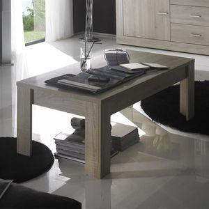 TABLE BASSE Table basse couleur chêne clair contemporaine PADE