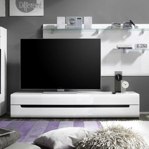 meuble tv ensemble meuble tv blanc laqu design dolores sa - Meuble Tv Ultra Design