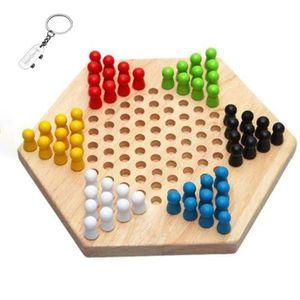 JEU SOCIÉTÉ - PLATEAU Enfants Éducation Précoce Bois Dames Hexagon Tradi