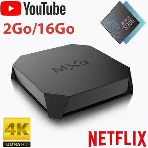 BOX MULTIMEDIA MXQ Android Box 2Go/16Go TV 4K HDR - Accès direct