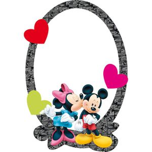 MIROIR Miroir Mickey et Minnie Mouse Disney