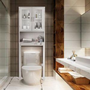COLONNE - ARMOIRE SDB COSTWAY Meuble Dessus Toilette WC ou Machine à Lav