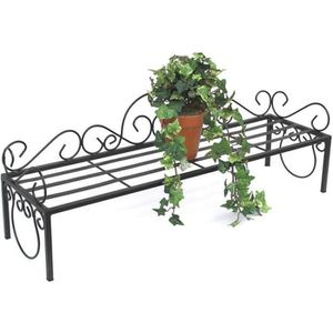 MEUBLE SUPPORT PLANTE  DanDiBo Etagère à fleurs Mi Noir Porte fleurs 75cm