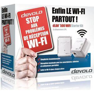 COURANT PORTEUR - CPL DEVOLO Kit 2 CPL Wi-Fi 500 Mbit/s, 2 ports Fast Et
