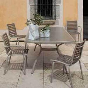 Salon repas Floris 1 table rallonge + 4 fauteuils - Achat ...