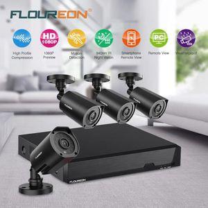 CAMÉRA DE SURVEILLANCE Kit de Caméra de Surveillance FLOUREON 1*8CH 1080N