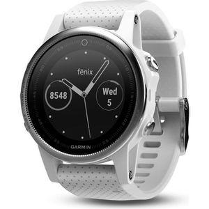 Montre connectée sport GARMIN Fenix 5S Silver Montre GPS Cardio Multispor