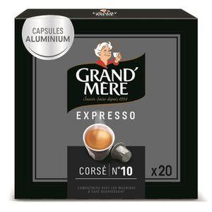 CAFÉ Café Capsules Grand Mere Expresso Corsé en alumini