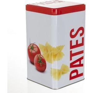 BOITES DE CONSERVATION Boîte à pâtes Relief rouge