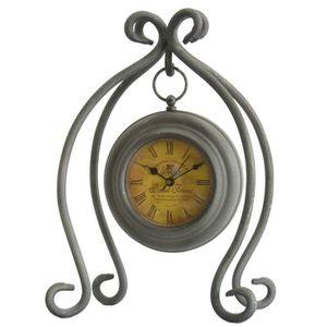 HORLOGE - PENDULE Horloge à Poser Pendule Ronde Suspendue sur Pied e