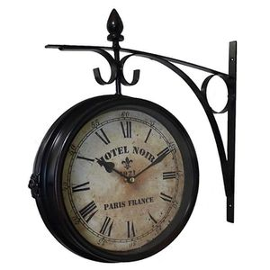 horloge murale style industriel achat vente horloge. Black Bedroom Furniture Sets. Home Design Ideas