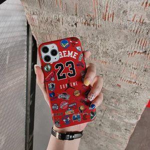 COQUE - BUMPER Coque iPhone 11,Supreme Air Jordan Rouge Silicone