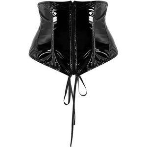 BUSTIER - CORSET Serre Taille Corset Bustier Sexy Femme Lacet Faux