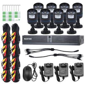 CAMÉRA DE SURVEILLANCE Système de caméra,KIT, Système de surveillance, 8