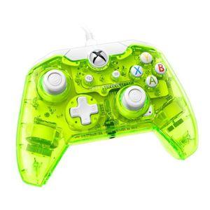 MANETTE JEUX VIDÉO Manette filaire Xbox One Rock Candy vert (compatib