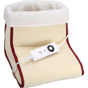 Chauffé Électrique Pied Chauffe Pieds Massage Confort Polaire Daim Relaxant