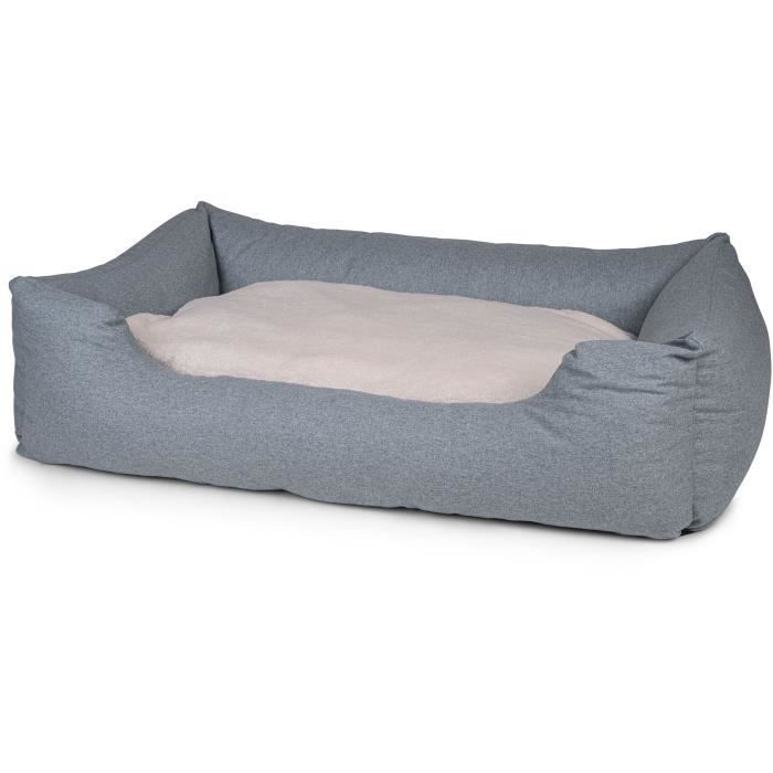 VADIGRAN Panier carré Hera - 120 cm - Vert menthe - Pour chien