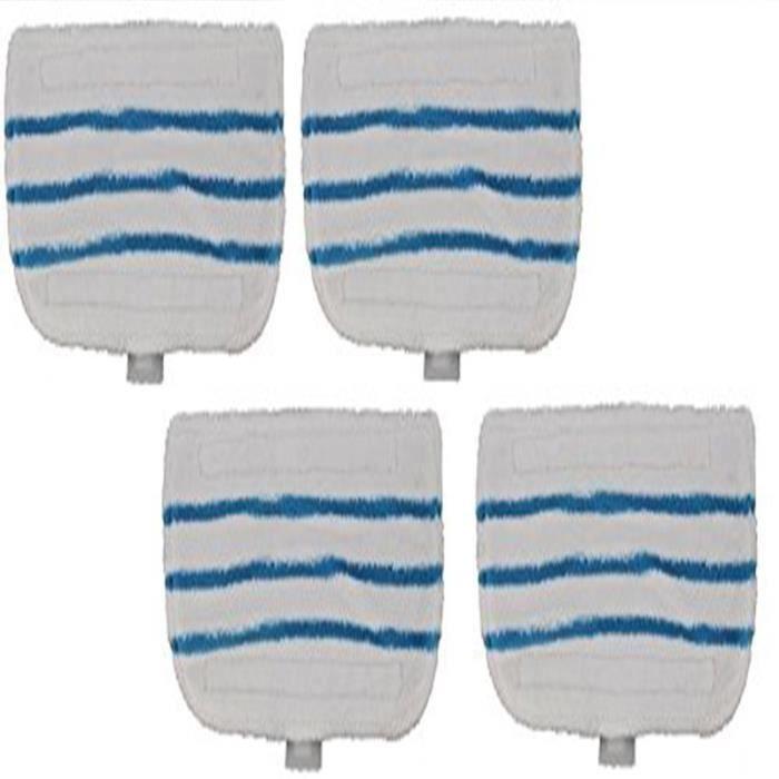 FSMP20 Lot de 4 lingettes nettoyage microfibre pour balai vapeur Black & Decker, velcro, lavable