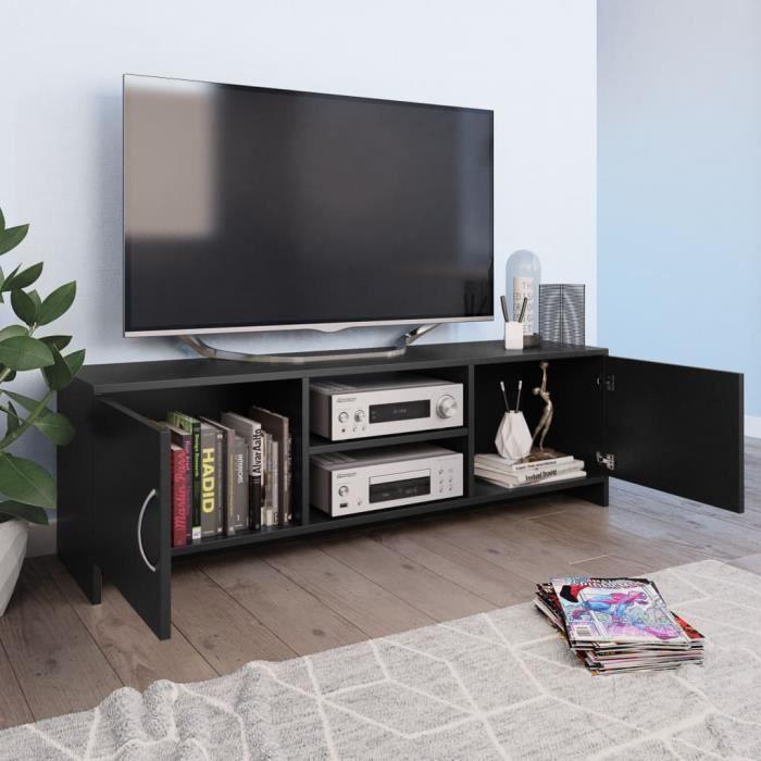 KAI Meuble TV Noir 120 x 30 x 37,5 cm Aggloméré