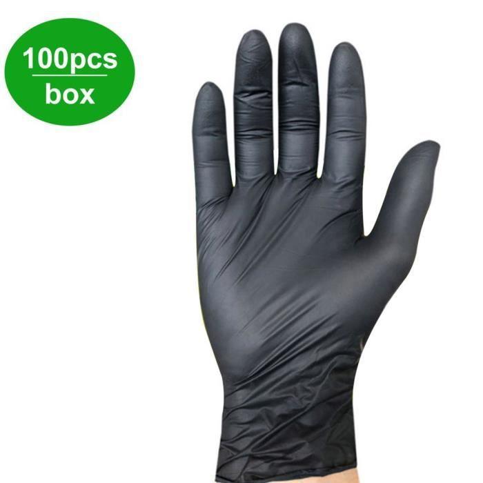 100 Pcs / boîte Ménage Nettoyage Lavage Gants Mécaniques Jetables Laboratoire En Nitrile Nail Art Gants Antistatiques