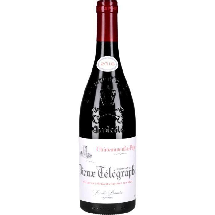Vin Rouge - Châteauneuf-du-Pape Le Vieux Télégraphe 2016 - Bouteille 75cl