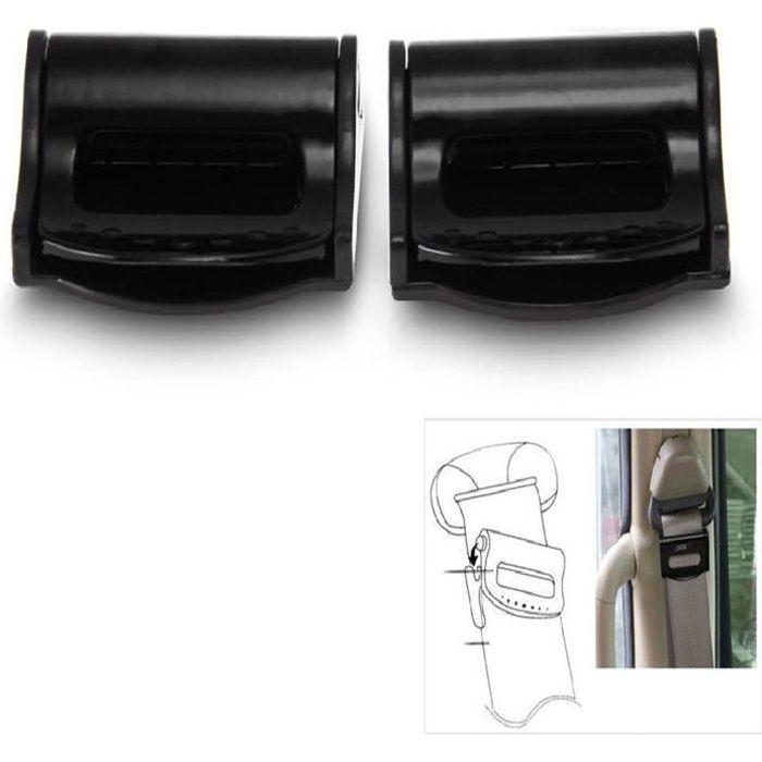 2 X Pince Bloque Ceinture De Sécurité Universel stop ceinture noir