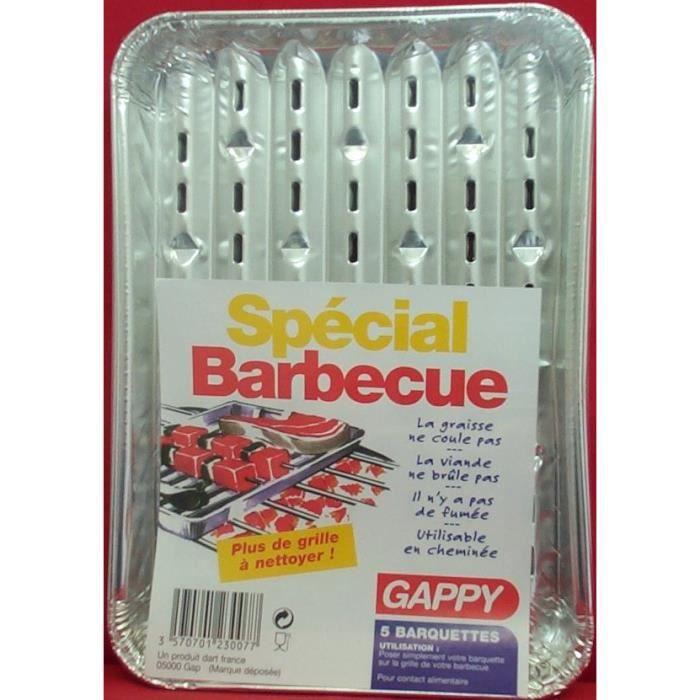 Barquettes en alu spécial barbecue x 3