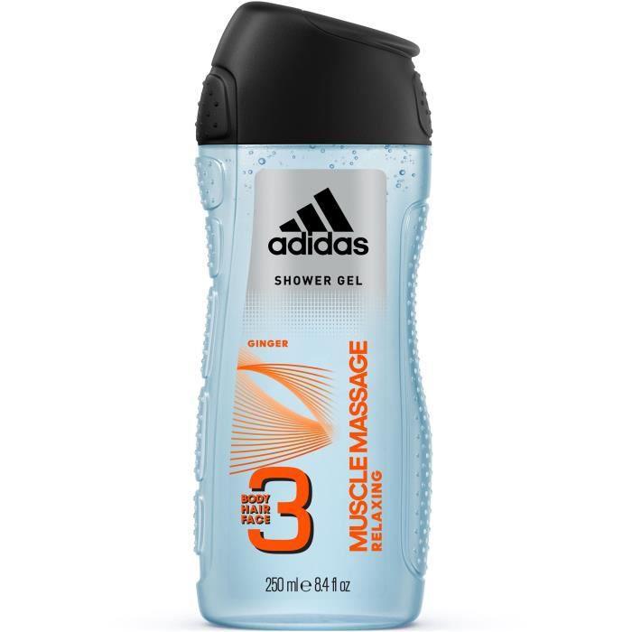 ADIDAS Gel douche Muscle Massage 3En1 - 250 ml