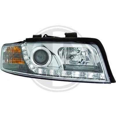 1017485 , Paire de Feux Phares Daylight LED chrome pour AUDI A4 Berline , Avant 8E de 2000 a 2004